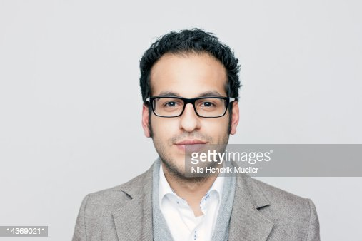 Close up of businessmans face : Stock Photo