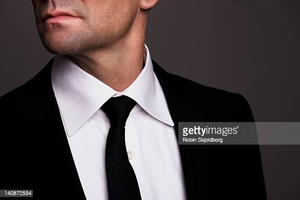 Close up of businessmans tie