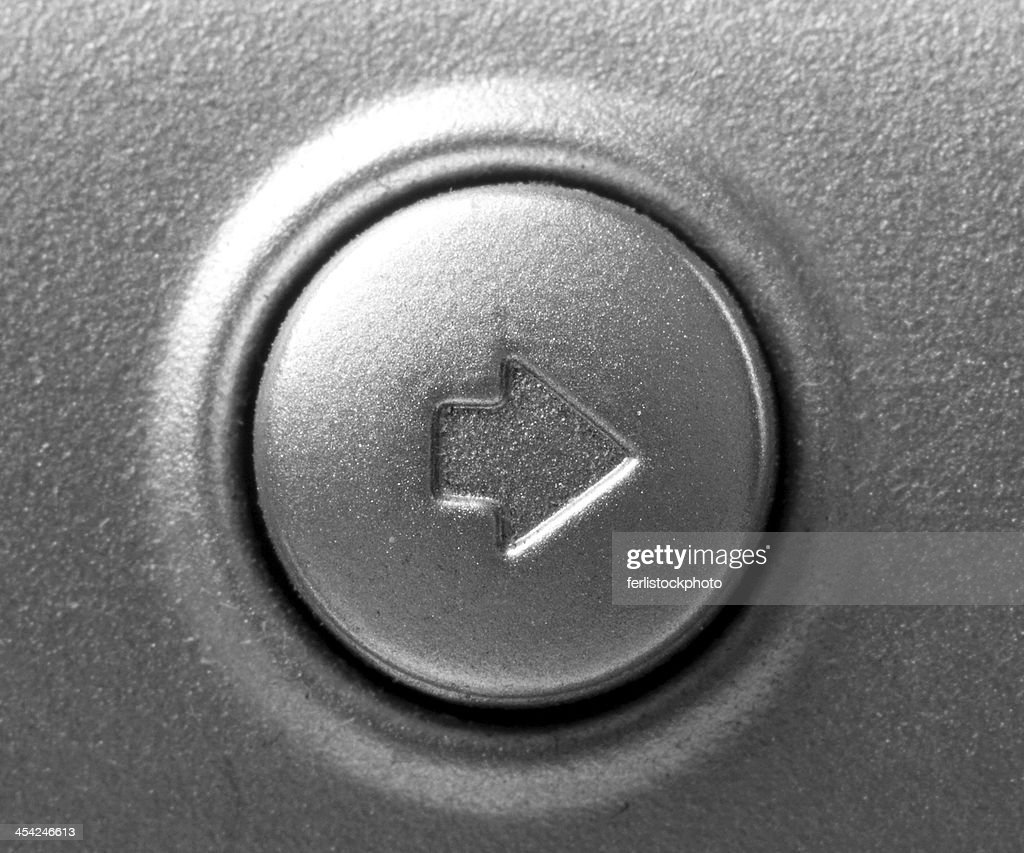 Close up of button with arrow right : Stock Photo