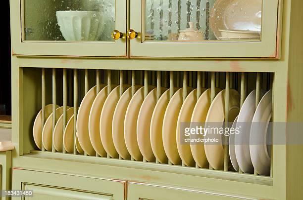 Nahaufnahme von einem Schrank mit Küche
