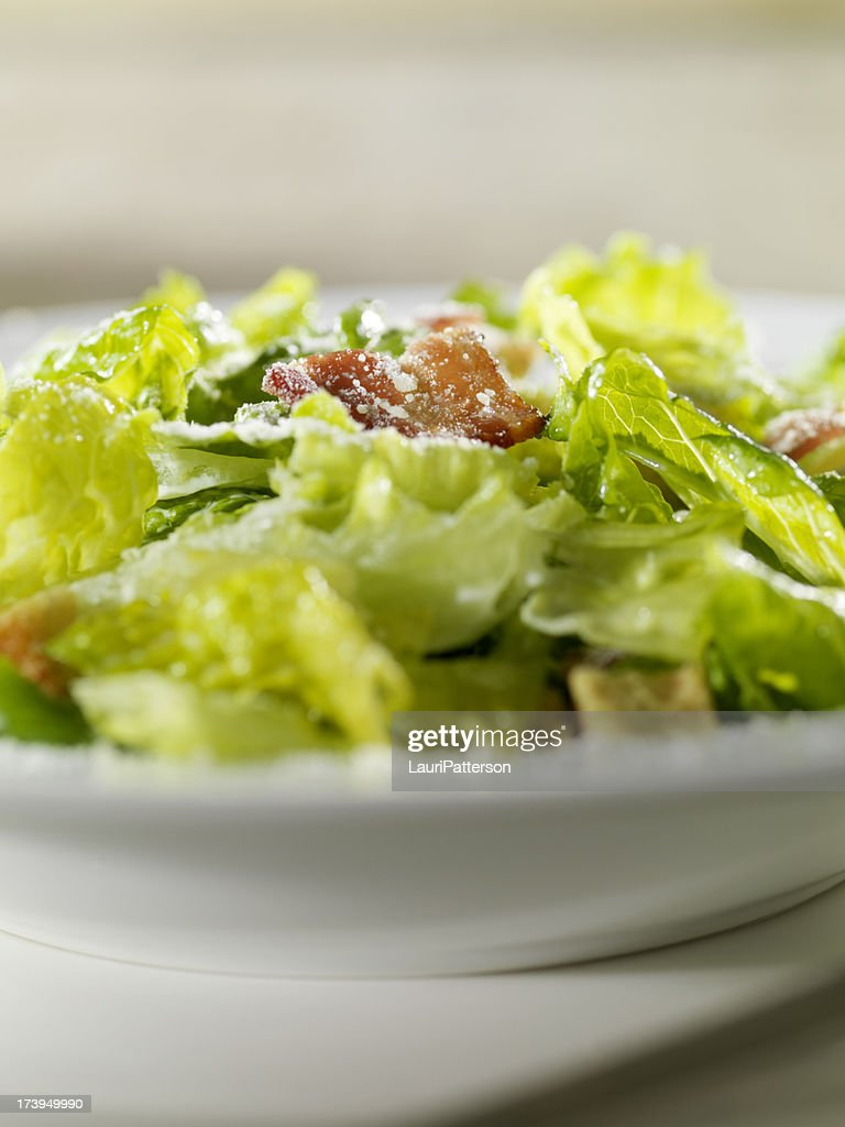 Close Up of Caeser Salad : Stock Photo