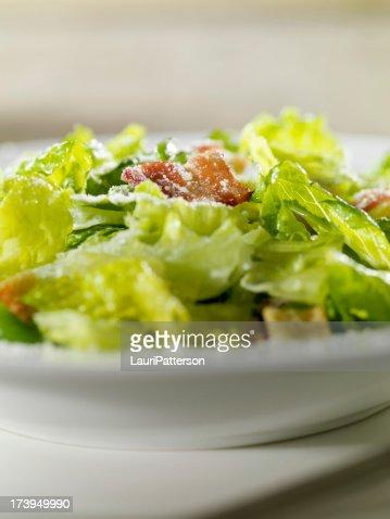 Close Up of Caeser Salad