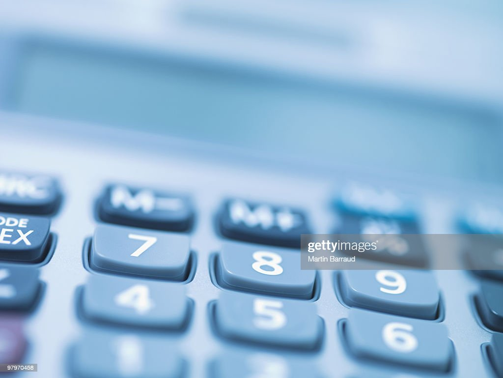 Close up of calculator keys : Stock Photo