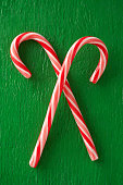 Close up of candy canes