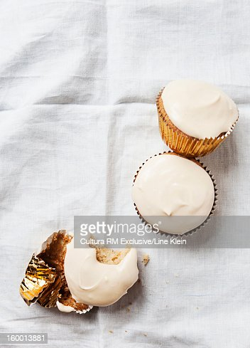 Close up of cappuccino cupcakes