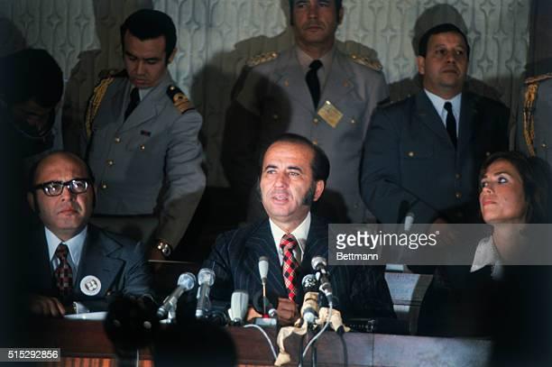 Close up of Carlos Andres Perez the President of Venezuela