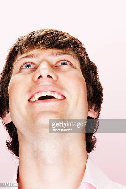 Close up of Caucasian man smiling