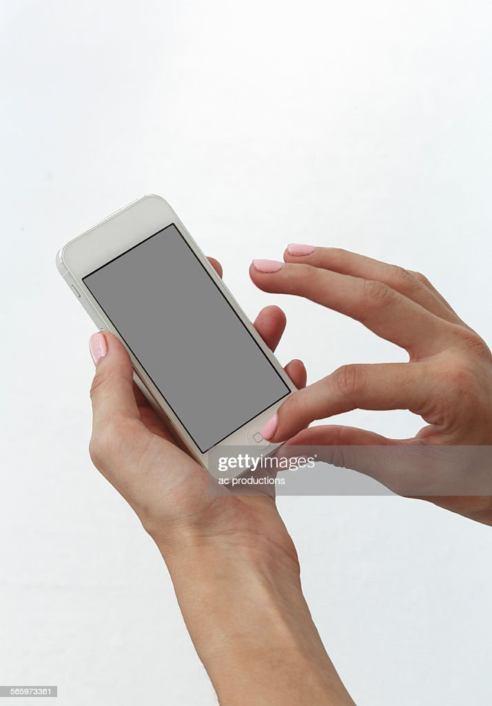 Close up of Caucasian woman using cell phone