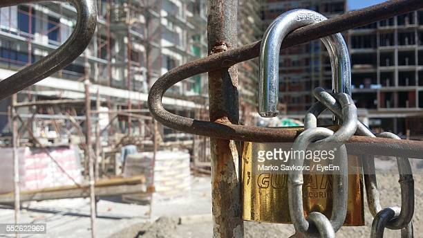 Close Up Of Chain In Construction Site