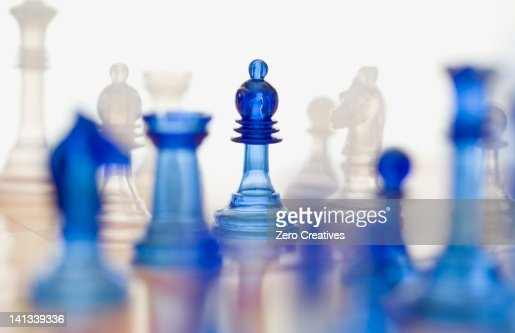 Close up of chess pieces : Stock Photo