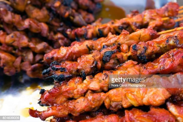 Close up of Chicken Satay
