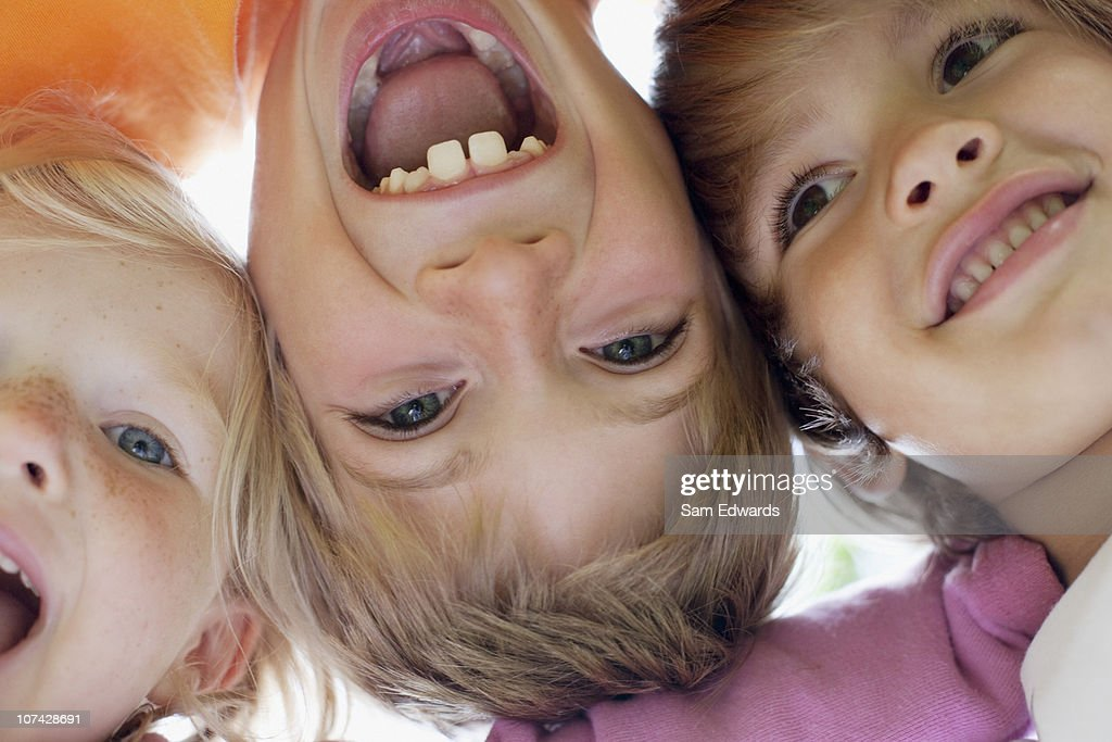 Close up of children smiling : Stock Photo