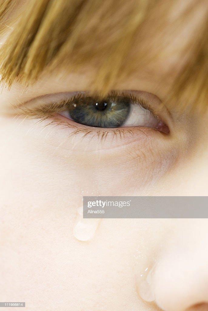 closeup of tear in - photo #5