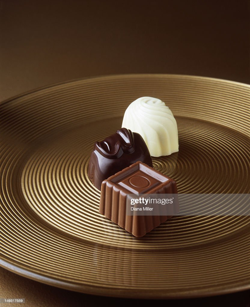 Close up of chocolates on serving tray
