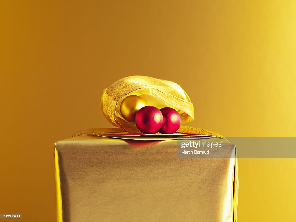 Close up of Christmas gift : Stock Photo