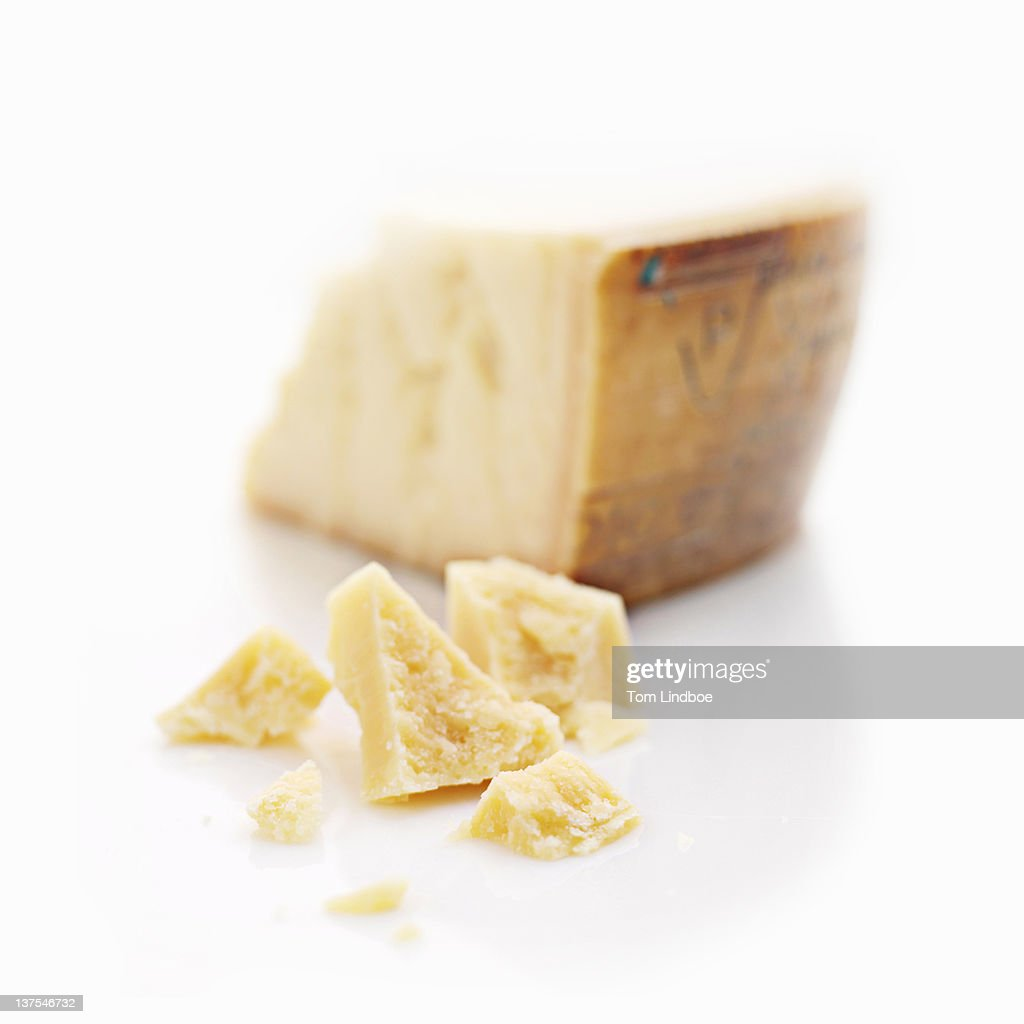 Close up of chunks of cheese : Stock Photo