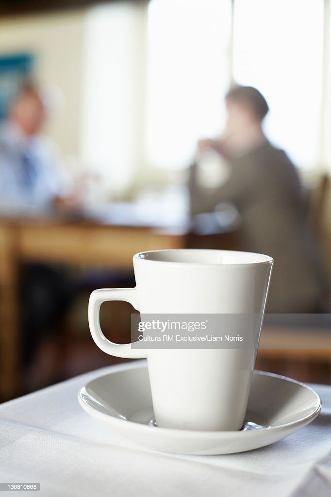 Close up of coffee cup in cafe : Stock Photo