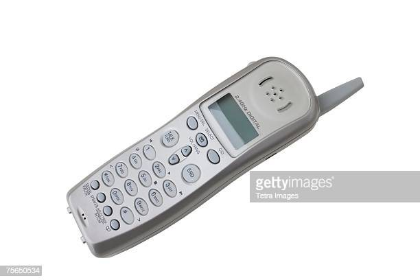 Close up of cordless telephone