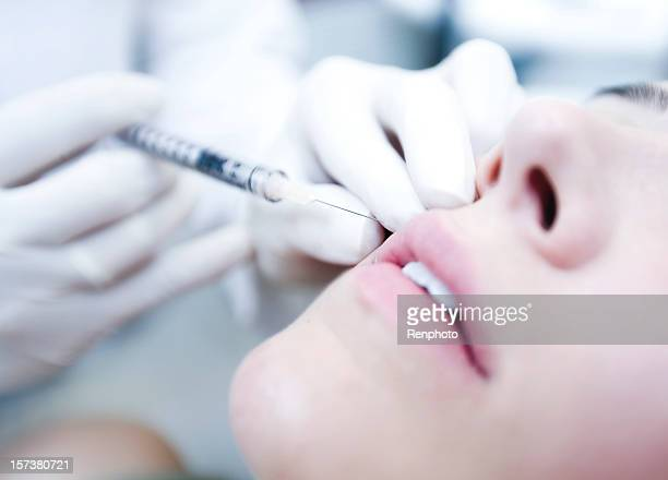 Close Up of Cosmetic botox Injection