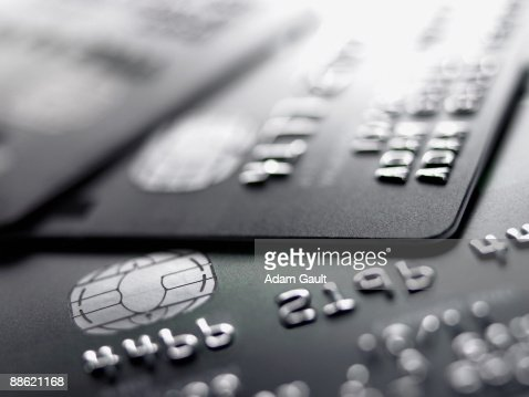 Close up of credit cards : Stock Photo