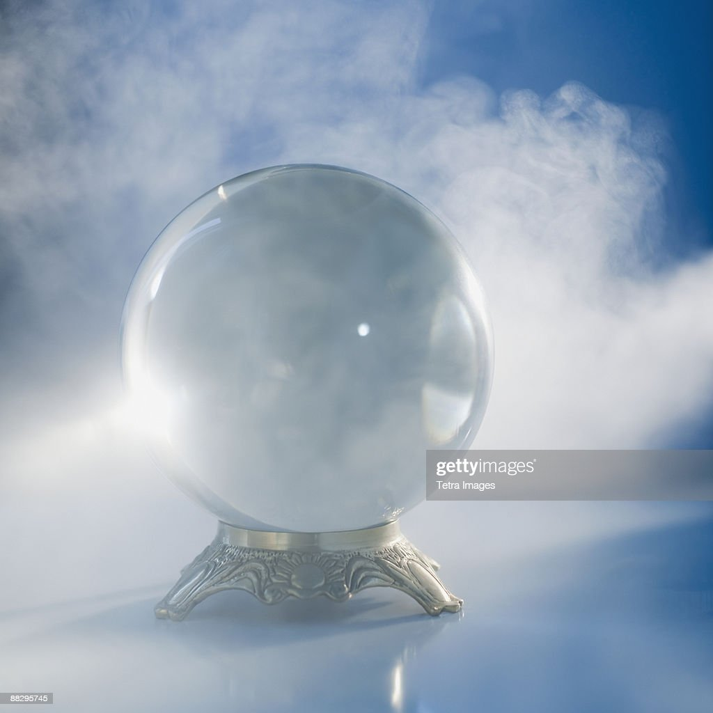 Close up of crystal ball