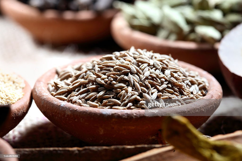 Close up of cumin seeds