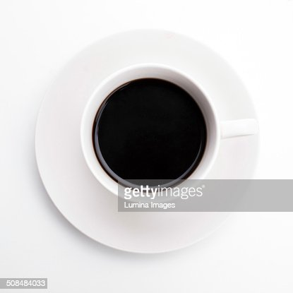 Close up of cup of black coffee