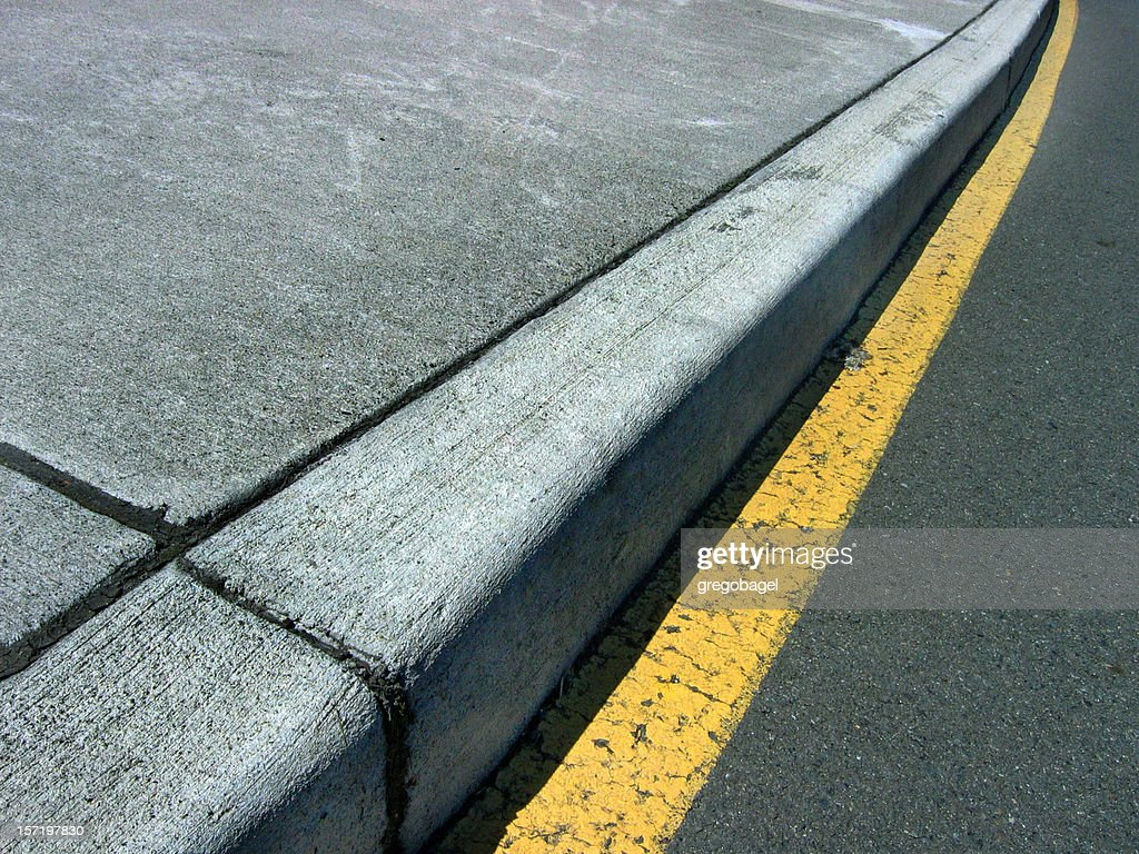 Close up of curb on a street