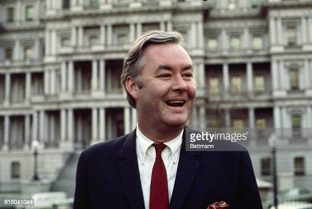 Close up of Daniel Patrick Moynihan 1/31 President Richard Nixon's Assistant for Urban Affairs