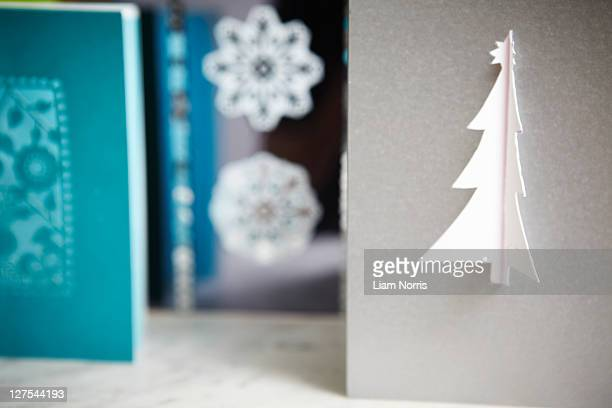 Close up of decorative Christmas cards