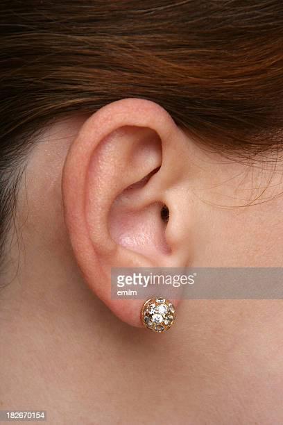 Oreille avec boucle d'oreille