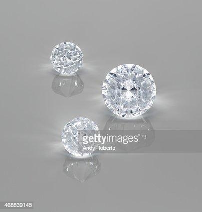 Close up of diamonds