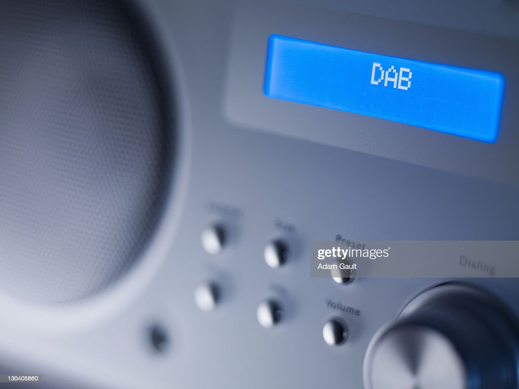 Close up of disc player screen and dials