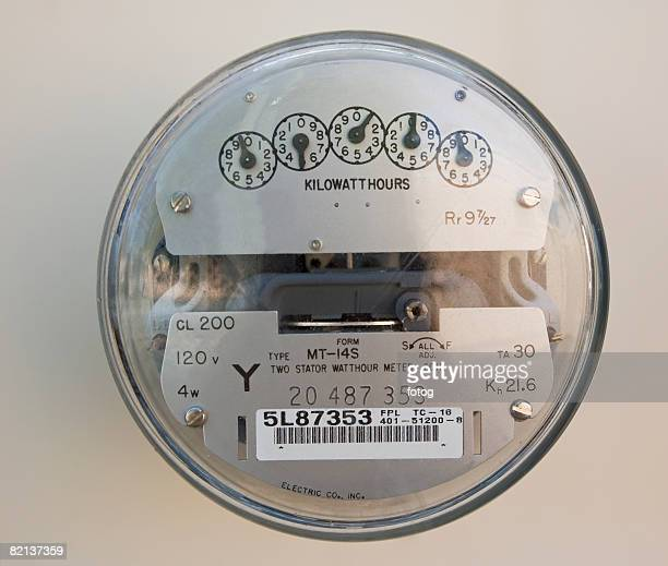 Close up of electric meter