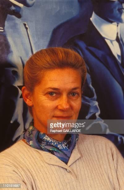 Close up of Elisabeth Badinter in France on December 08 1992
