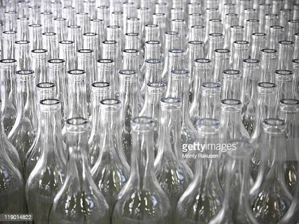 Close up of empty bottles in plant