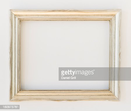 Close up of empty picture frame, studio shot