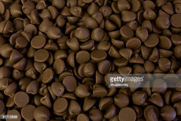 Close up of endless chocolate chips