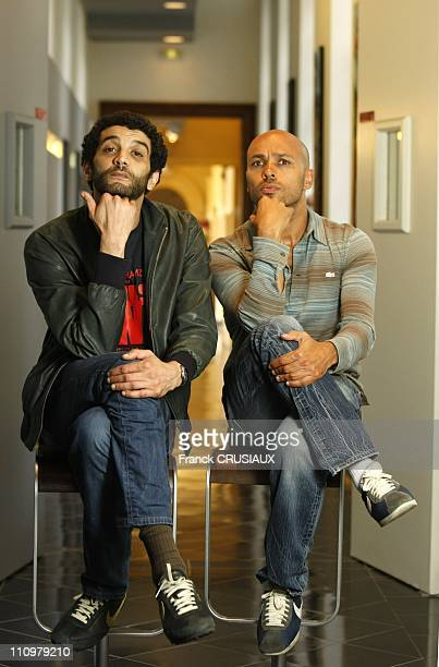 Close up of Eric and Ramzy directors and actors on occasion of before premiere of their film 'Seuls Two' in Lille France on May 27th 2008