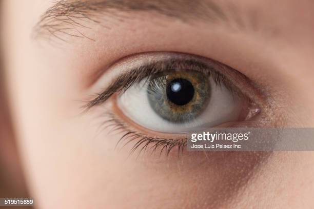 Close up of eye of Caucasian girl