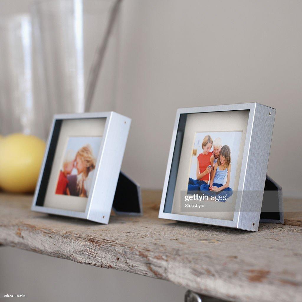 close up of family photographs : Stock Photo