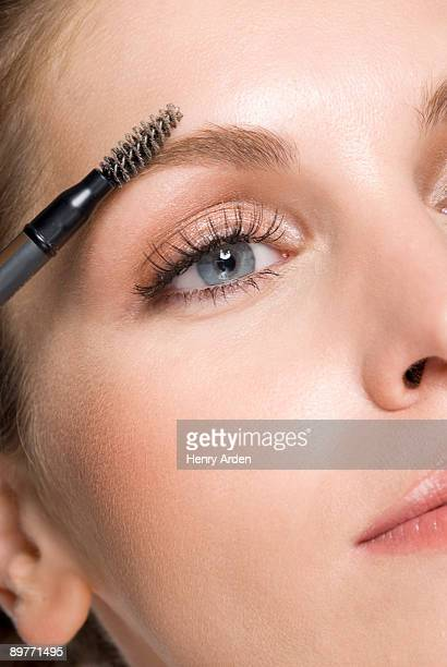 close up of female eye with makeup