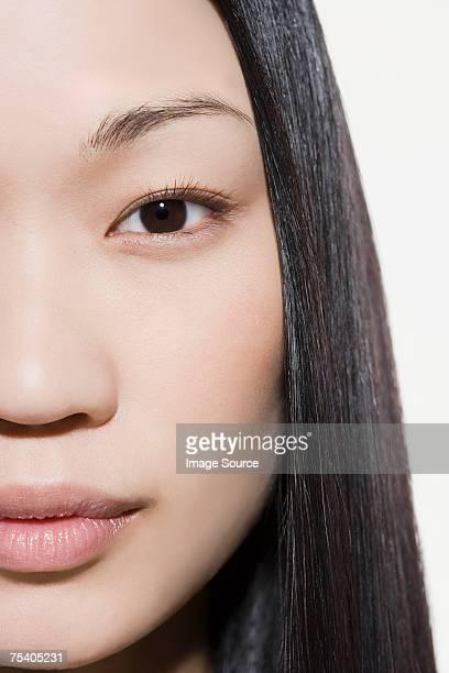 Primo piano del volto femminile