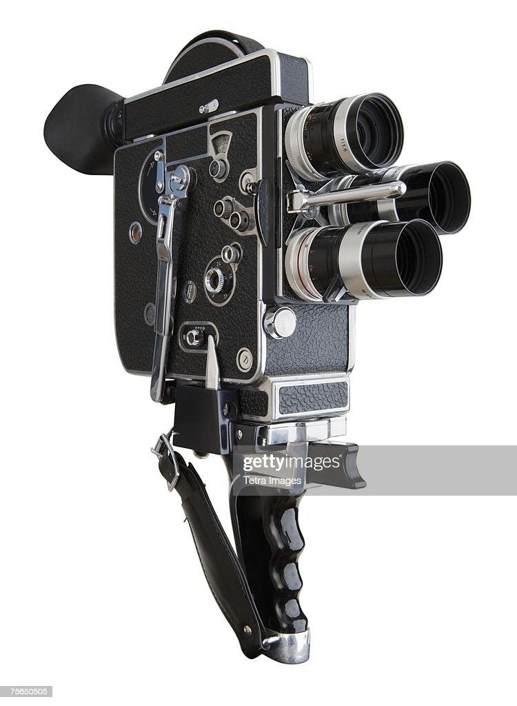 Close up of film camera