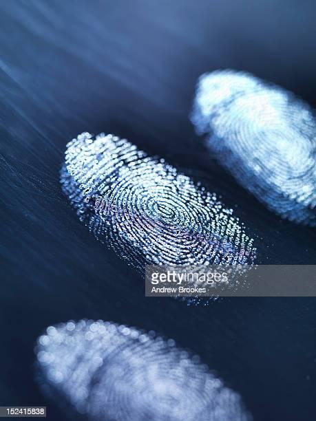 Close up of fingerprints on surface