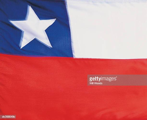 Close up of flag of Chile