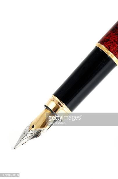 Primo piano di una penna stilografica