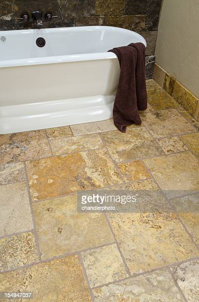 close up of free standing bathtub