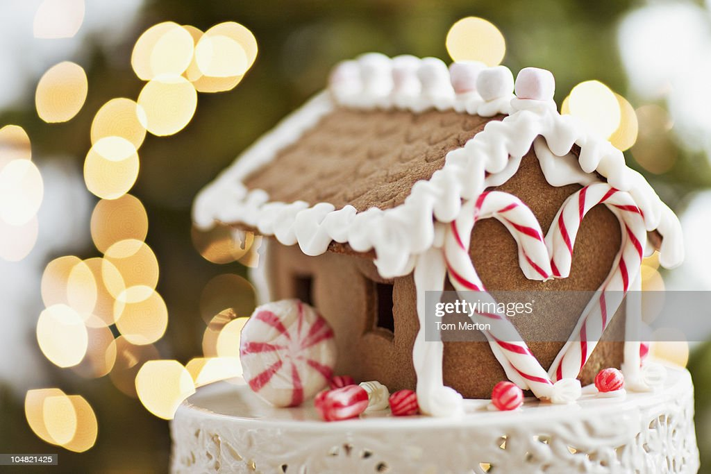 Close up of gingerbread house : Stock Photo