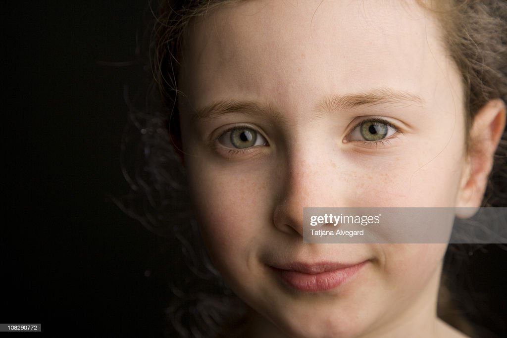 close up of girl : Stock Photo